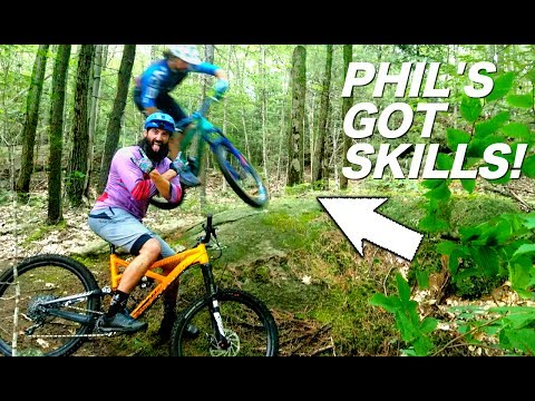 NEW ENGLAND SAMPLING with SKILLS WITH PHIL - Riding Phil's first mtb trails | NES Ep. 1