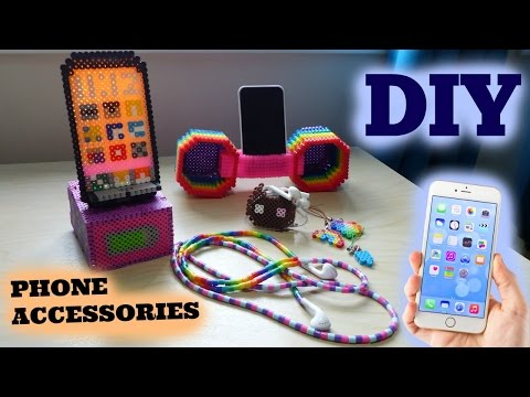 5 DIY Perler Bead Phone Accessories
