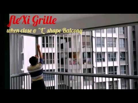 fleXi Grille When Close @ L shape Balcony