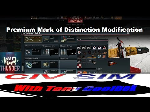 War Thunder Premium: Mark of Distinction Modification and Decal tutorial.