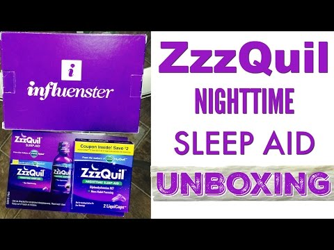 ZzzQuil Sleep Aid | @Influenster UNBOXING | @nappylicioustv
