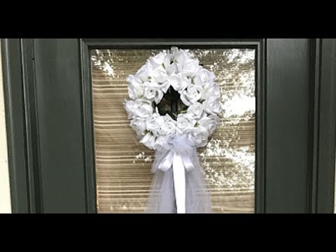 HOBBY LOBBY VS. DOLLAR TREE | WEDDING OR BRIDAL SHOWER VEIL WREATH | DOOR DECOR ON A BUDGET