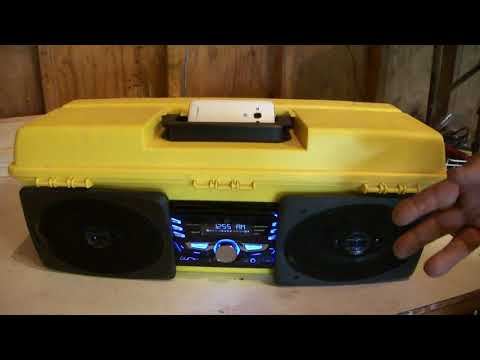 Toolbox With A Bluetooth Speaker / Radio