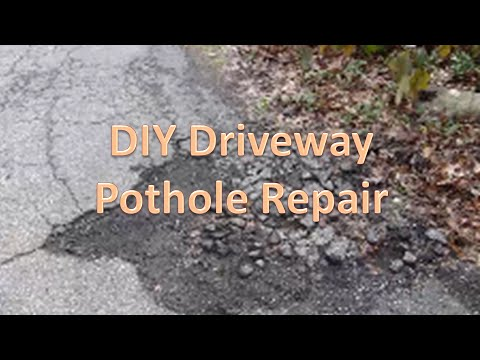 DIY Driveway Pothole Repair