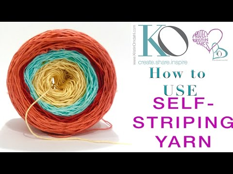 How to use Self-Striping Yarn and Mix with other Yarns Knitting Crochet