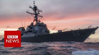 US Navy ship and oil tanker collide near Singapore - BBC News