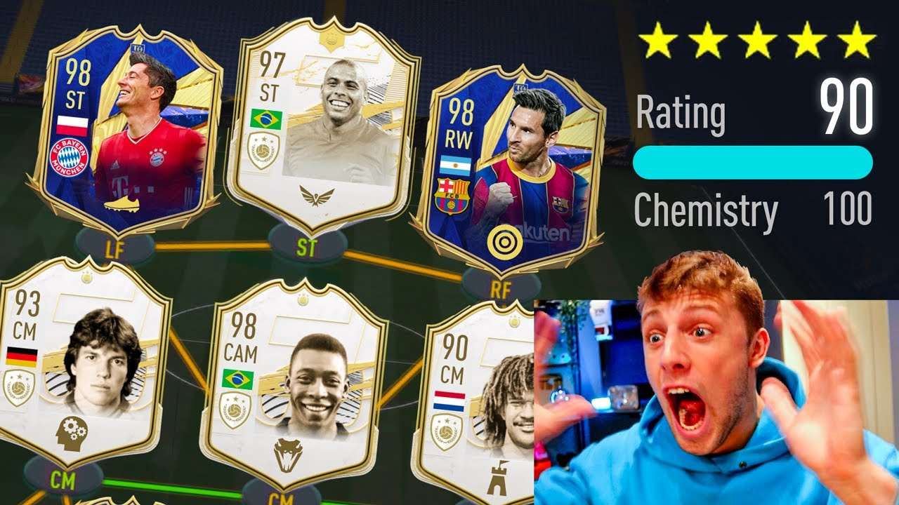 MY BEST DRAFT EVER ON FIFA 21!! - 190 RATED FUT DRAFT CHALLENGE