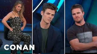 "The CW Heroes Give Their Best ""CW Smolder"" Look  - CONAN on TBS"