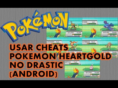 Como usar cheats Pokemon HeartGold para Android no Drastic