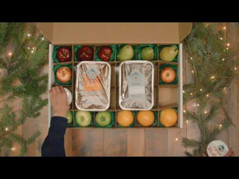 Delicious Orchards Mail Order Deluxe Fruit and Bakery Box #230131