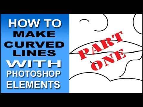 Make Curved Lines in Photoshop Elements - Part 1