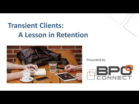 Transient Accounting Clients  A Lesson in Retention