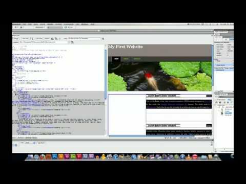 Using CSS templates in Dreamweaver