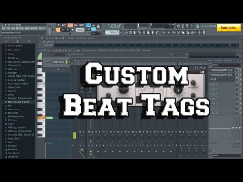 How to make a custom beat tag by MrDifferentTV