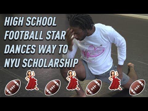 High school football player dances his way to NYU scholarship