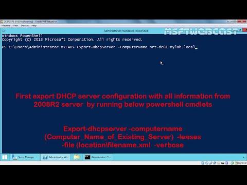 Migrating existing DHCP server  to Windows Server 2012 R2