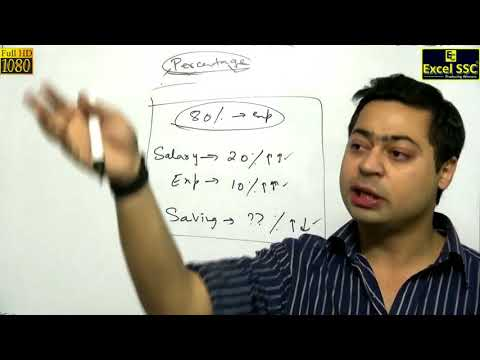 SSC CGL Maths: Percentage Demo 1 - by Nipun Sir (Excel SSC Classes)