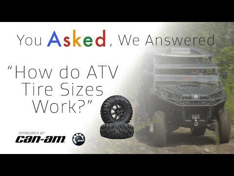 How do ATV Tire Sizes Work?