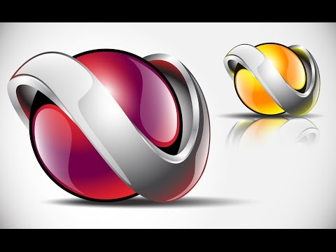 How to create FULL 3D Logo Design in Adobe Illustrator CS5 HD1080p (V1)