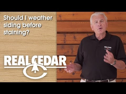 FAQ : Should I Weather Siding Before Staining? - Realcedar.com