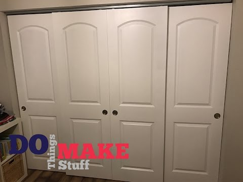 DIY Sliding Closet Doors, Easy Do It Yourself