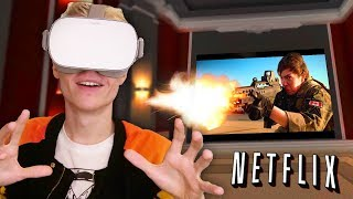 Download WATCH MOVIES, PLAY GAMES AND BROWSE THE INTERNET IN VR! | Virtual Desktop (Oculus Go Gameplay) Video