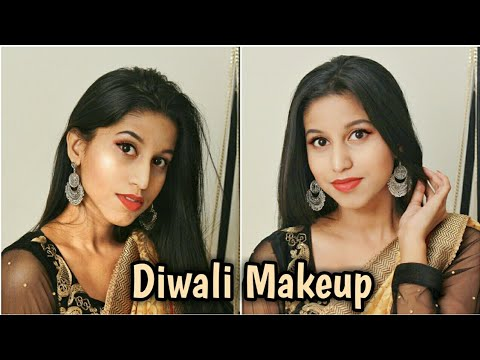 Get Ready With Me for Diwali 2017 | Gold & Red Eye Makeup with Affordable Products only