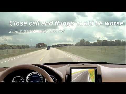 Falling asleep at the steering wheel on Wisconsin road