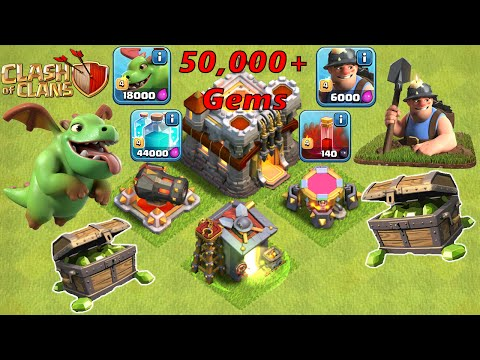Clash of Clans - Gemming Max Update, Baby Dragon, Miner, Clone Spell, Skeleton Spell