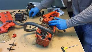 Husqvarna 51 and 55 oil worm gear removal