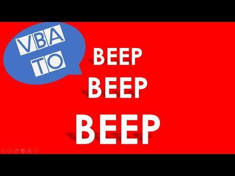 Application.Beep VBA to Make Beep