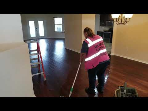 Deep cleaning wood floors with Ecolab products