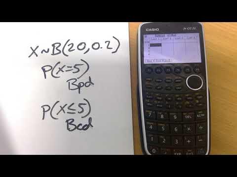 Casio Graphical Calculators:  Binomial Probability