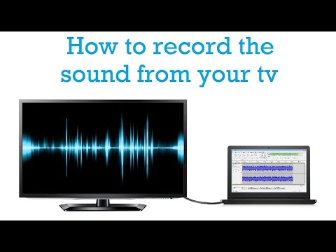 How to record audio from tv on your laptop/PC