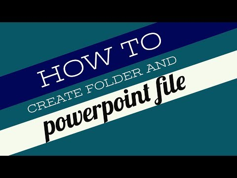 Creating folder and PowerPoint file [Bangla Tutorial]