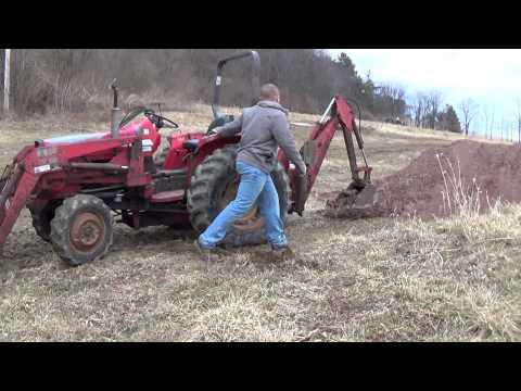 Massey Ferguson 1035 4wd with loader and backhoe