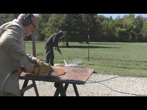 DeWALT Pressure Washer Sandblasting vs Big DeWALT Grinder
