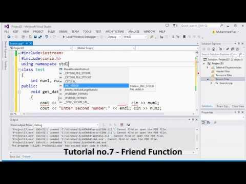 Tutorial no 8   Friend Function By Khezer Mustafa
