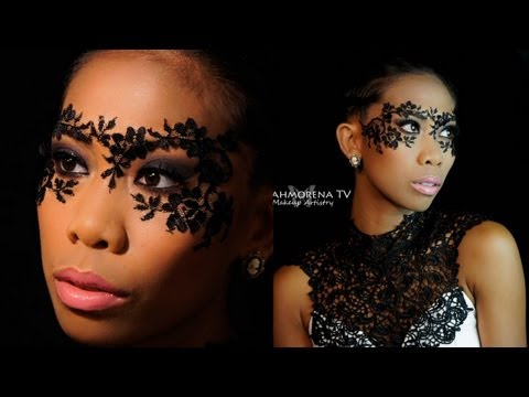 DIY Masquerade - Lace Mask Makeup Tutorial