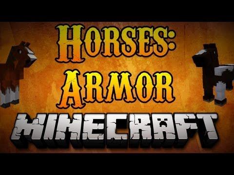 Minecraft Horses - How to Craft Horse Armor Minecraft 1.8