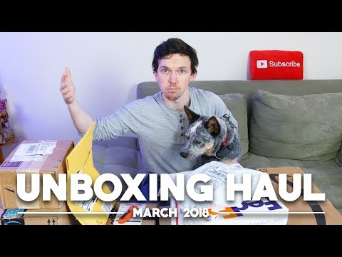 Unboxing Haul With Arlo the Phone Dog! (March 2018)