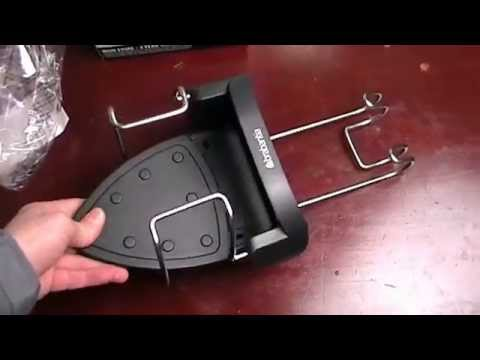 Brabantia Ironing Board Hanger and Iron Store Black unpack