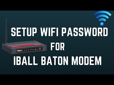 How To Setup/Change WiFi Password for I Ball Baton Modem 2016