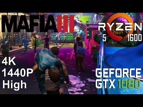 Mafia III 4K/1440P Test On Gigabyte GTX 1080 + Ryzen 5 1600, Medium /High Settings