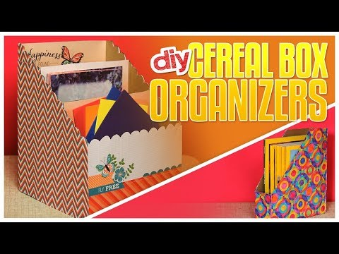 DIY Organization  Box From Cereal Boxes I DIY Magazine Holder I Recycling Projects