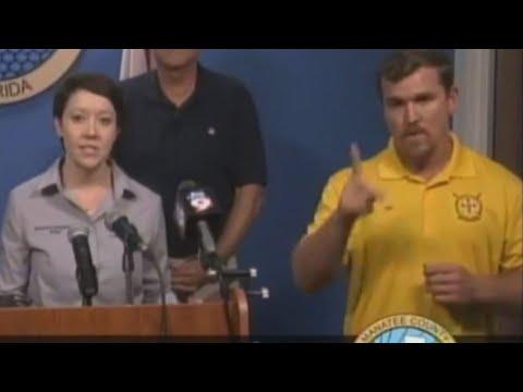 Sign Language Interpreter During Hurricane Irma Actually Communicated Gibberish