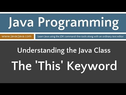 Learn Java Programming - This Keyword Part 1 Tutorial