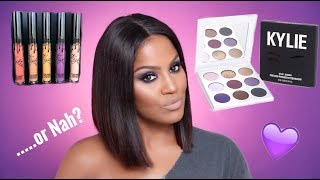 Kylie Cosmetics Purple Palette & Fall Lip Kits Review   Makeupshayla
