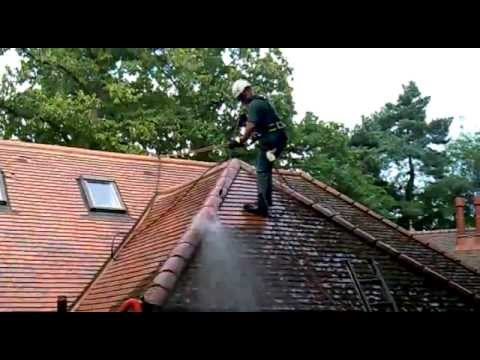 Roof cleaning Bedfordshire - Cleaning Rosemary clay roof tiles by Great Outdoors and In Ltd.mp4
