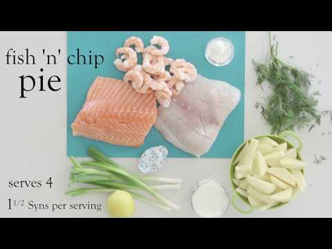Slimming World fish 'n' chip pie 1 1/2 Syns per serving